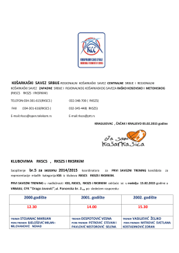 Saopštenje br.5 - raško kosovski košarkaški savez