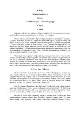 1 A. Šercer Otorinolaringologija II Klinika XVIII Strana tijela u