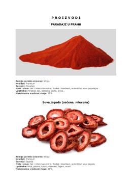 suseni proizvodi