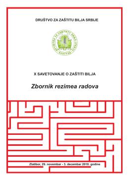 Zbornik rezimea - Društvo za zaštitu bilja Srbije