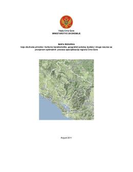 Vlada Crne Gore MINISTARSTVO EKONOMIJE MAPA RESURSA