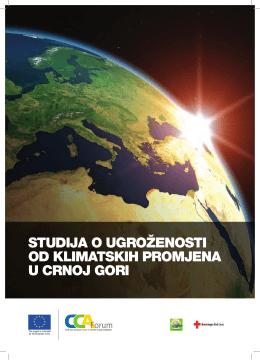 Studija o ugroženoSti od klimatSkih promjena u Crnoj gori