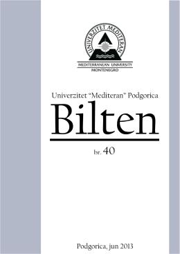 br.40 - Univerzitet `Mediteran`