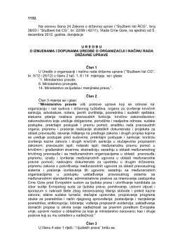 1132. Na osnovu člana 24 Zakona o državnoj upravi (``Službeni list