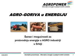 Agro-goriva kao izvor energije
