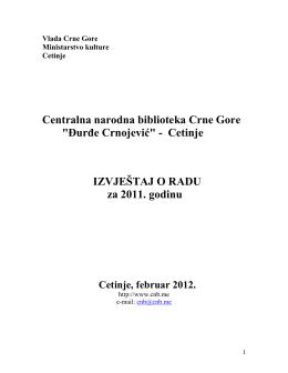"""Centralna narodna biblioteka Crne Gore """"Đurđe Crnojević"""""""