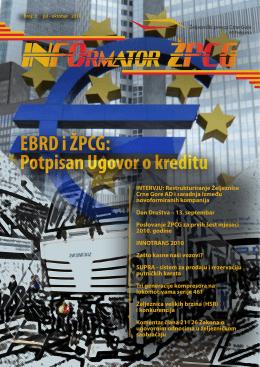 EBRD i ŽPCG - Željeznički prevoz Crne Gore