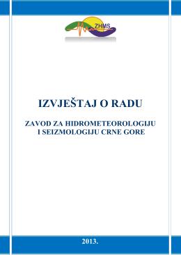 IZVJEŠTAJ O RADU - Hidrometeoroloski zavod Crne Gore