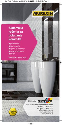 Austrotherm Murexin program za polaganje keramike