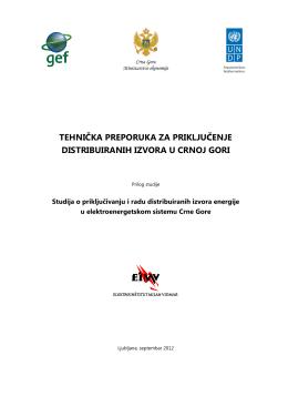 tehnièka preporuka za prikljuèenje distribuiranih izvora u crnoj gori