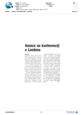 Naslov: Asseco na konferenciji u Londonu Kovačić&Spaić 1/1