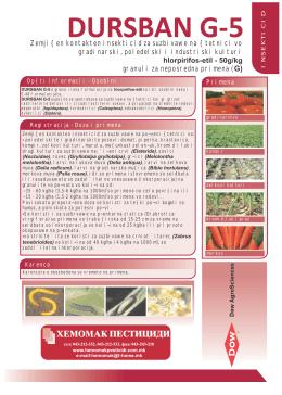 INSEKTICID Zemji{en kontakten insekticid za suzbivawe na {tetnici