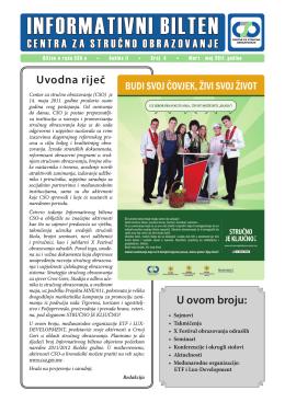 Bilten broj 4 MNE - Centar za stručno obrazovanje