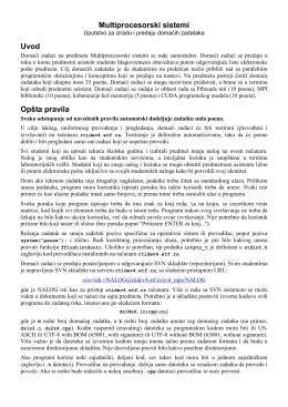 MPS - Uputstvo - Multiprocesorski sistemi