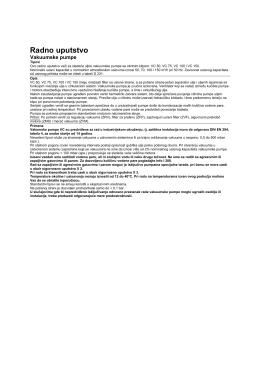 Radno uputstvo - Elmo Rietschle