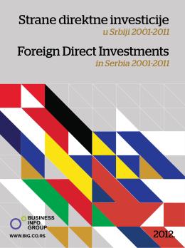 Strane direktne investicije u Srbiji 2001