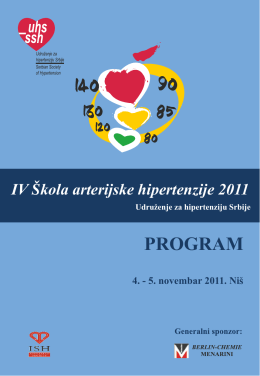PROGRAM - Liga za Hipertenziju