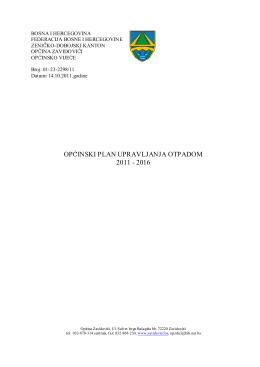 općinski plan upravljanja otpadom 2011 - 2016