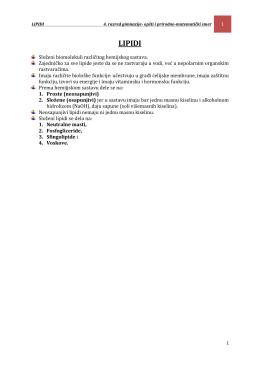 lipidi - Zrenjaninska gimnazija