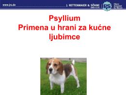Psyllium Primena u hrani za kućne ljubimce