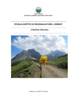 Studija Regionalni Park Komovi