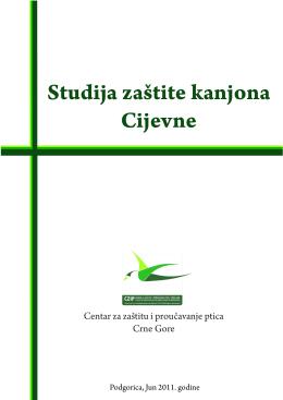 Studija zaštite kanjona Cijevne