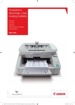 Produktivno skeniranje u boji visokog kvaliteta.