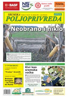 Sremska poljoprivreda broj 26 25. oktobar 2013.