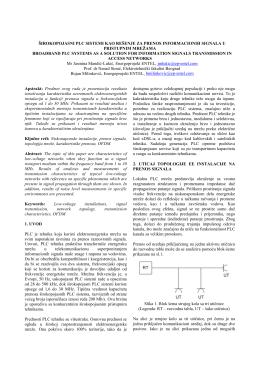 14.2. Širokopojasni PLC sistemi kao rešenje za prenos