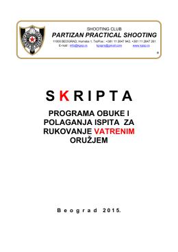 Materijal za obuku - SK Partizan Practical Shooting
