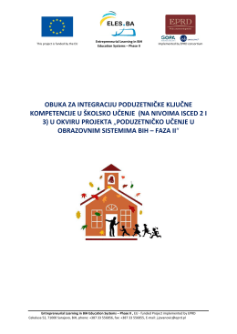Priručnik za nasatvnike - eles.ba