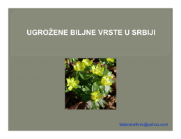 Ugrozene biljne vrste u Srbiji - ekološko šumarski centar sylva