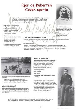 Pjer de Kuberten Čovek sporta - Deutsches Pierre de Coubertin