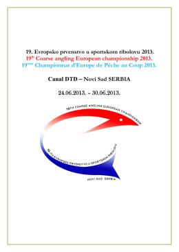 19. Evropsko prvenstvo u sportskom ribolovu 2013