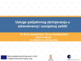 Usluge palijativnog zbrinjavanja u zdravstvenoj i socijalnoj zaštiti