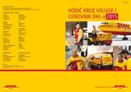 vodič kroz usluge i cenovnik dhl-2015