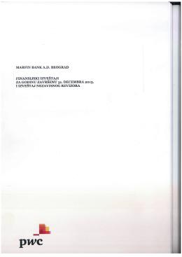 Redovni godišnji finansijski izveštaj i izveštaj spoljnog