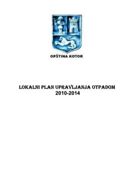 (Kotor) PLAN Upravljanja otpadom Februar 2010.pdf