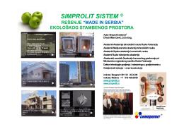 "simprolit sistem ® ""made in serbia"""