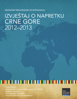 CRNE GORE 2012–2013 - Open Government Partnership