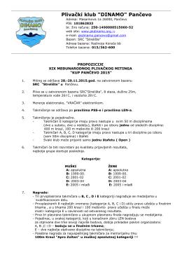 "Plivački klub ""DINAMO"" Pančevo"