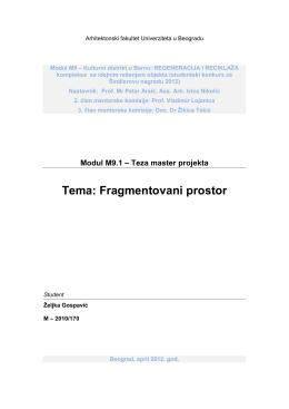 teza_Fragmentovani prostor_Zeljka Gospavic.pdf