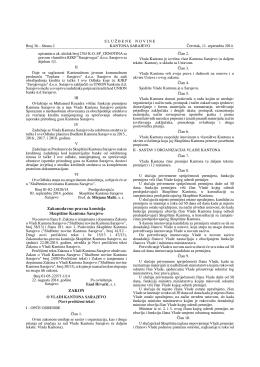 36/14, 37/14 - Ministarstvo pravde i uprave Kantona Sarajevo