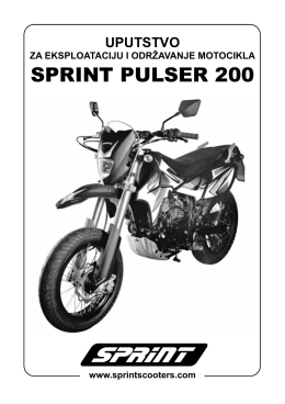 Uputstvo Pulser 200 11