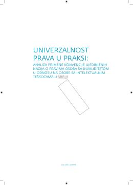 Univerzalnost prava u praksi: Analiza primene Konvencije - MDRI-S