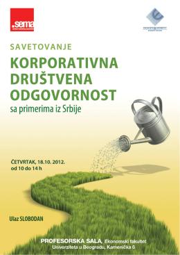 Korporativna drustvena odgovornost sa primerima iz Srbije
