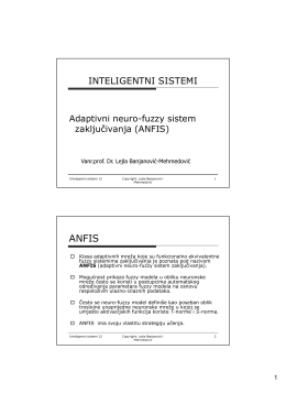 inteligentni sistemi - Vanr.prof.dr. Lejla Banjanović