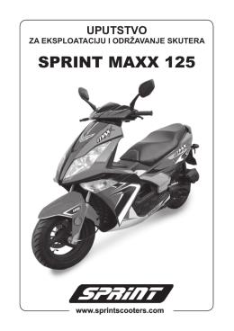 Maxx 125 uputstvo.indd - SPRINT Skuteri