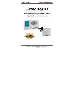 User manual for uniTEC SQ7 RF - new software