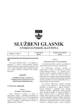 Sluzbeni glasnici 3 - Vlada Unsko